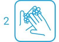 2. Schritt: Hände überall gründlich einseifen