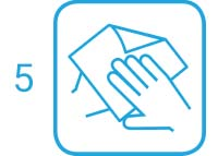 5. Schritt: Hände sorgfältig, auch zwischen den Fingern, abtrocknen